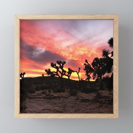 Joshua Tree Sunset Framed Mini Art Print