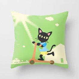 Kick scooter Throw Pillow