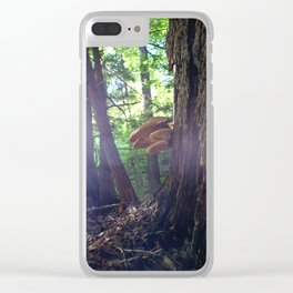 Twilight Fungus Clear iPhone Case