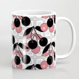 Black and pink pattern . Cherry . Coffee Mug