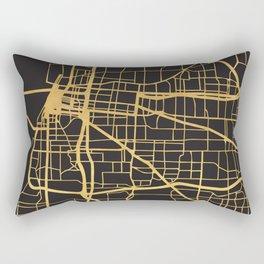 MEMPHIS TENNESSEE GOLD ON BLACK CITY MAP Rectangular Pillow