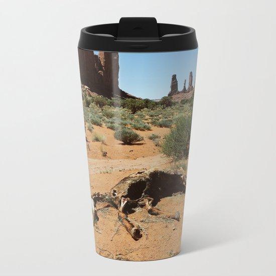 Monument Valley Horse Carcass Metal Travel Mug
