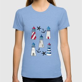 Watercolor Lighthouses T-shirt