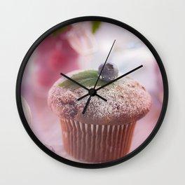 Sweet fruit muffin fine  Wall Clock