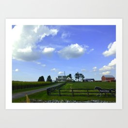 Scenic View Of Horse Farm In Damascus Maryland Art Print