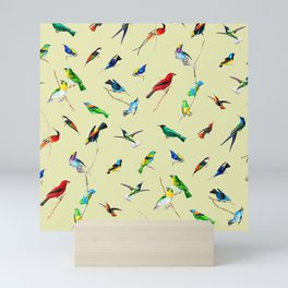 Yellow Birds Motif Mini Art Print