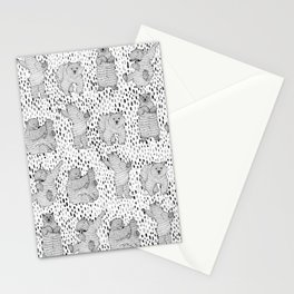 Lazy Bear Stationery Cards