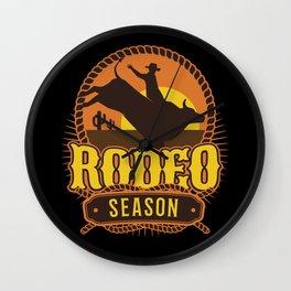 Rodeo Season Wall Clock