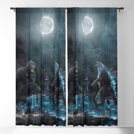 Godzilla vs Kong in the moonlight Blackout Curtain