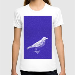 Blue Bird in the Snow T-shirt