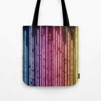 the lights Tote Bags featuring Lights by Jason Michael