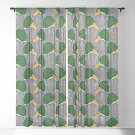 Mallard Duck Marsh Sheer Curtain