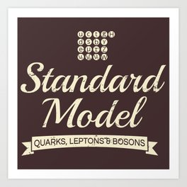 The Standard Model Art Print
