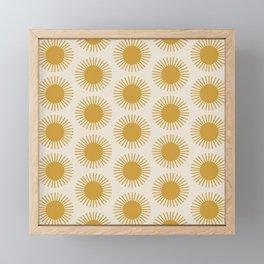 Golden Sun Pattern Framed Mini Art Print