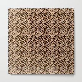 Cheetah dots Metal Print