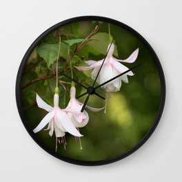 Beautifully Glamorous Fuchsia Flower #decor #society6 #buyart Wall Clock