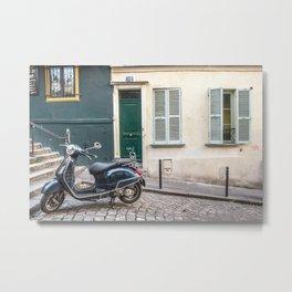 Vespa in Montmartre Metal Print