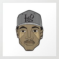 chance the rapper Art Prints featuring Chance the Rapper by Λdd1x7