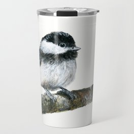 Black-capped Chickadee by Teresa Thompson Travel Mug