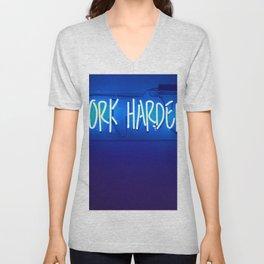 Work Harder Unisex V-Neck