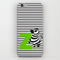 z for zebra iPhone & iPod Skin