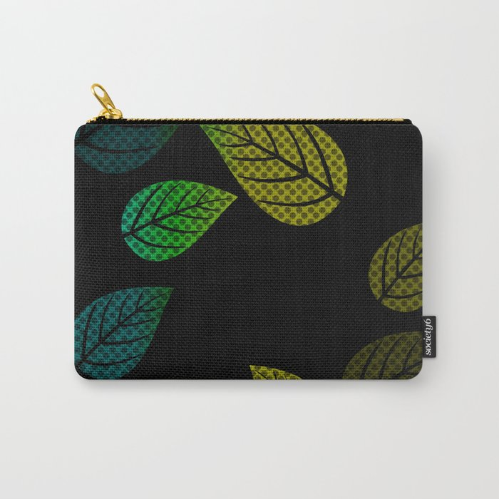 Bright Leaves Carry-All Pouch
