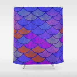Multicolor Scales Shower Curtain