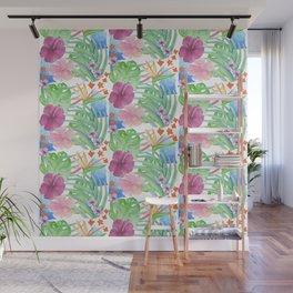 Malia's Tropical Print Wall Mural