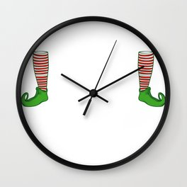 Christmas Elf Funny Small Size Winter Gift Wall Clock