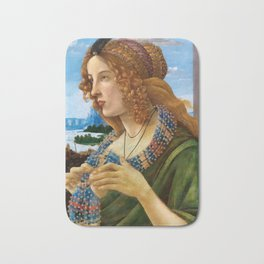 "Sandro Botticelli ""Allegorical Portrait of a Lady (Simonetta Vespucci ?)"" Bath Mat"