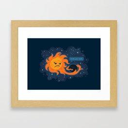 Dude, you suck. Framed Art Print