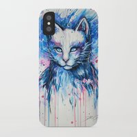 """space cat iPhone & iPod Cases featuring """"Space cat"""" by PeeGeeArts"""
