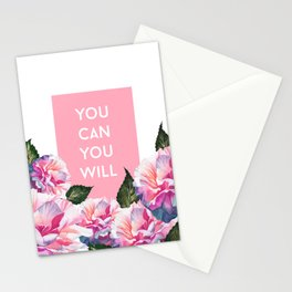 You Can & You Will Stationery Cards