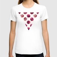 polka dots T-shirts featuring Pink Pomegranate Polka Dots by micklyn