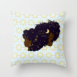 Sun Sisters 02 Throw Pillow