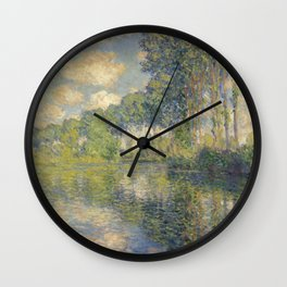 "Claude Monet ""Poplars on the Epte"" Wall Clock"