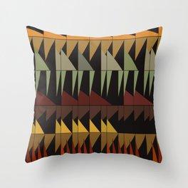 Dibon - Earth Tones Throw Pillow