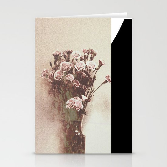 Abstract Vintage Flowers Stationery Cards