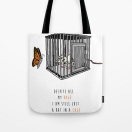 Bullet with Butterfly Wings | Inspired Lyric Art Print Tote Bag