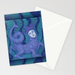 Melusine, Water Spirit, Underwater Fantasy Surreal Art Stationery Cards