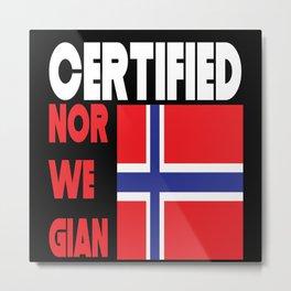 Norway Norway Flag, Norway Flag Metal Print