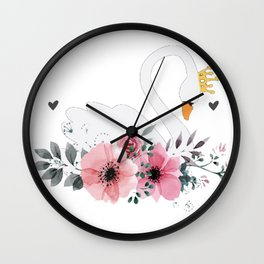 Swan Queen Wall Clock