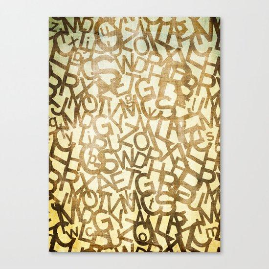 Din pattern Canvas Print