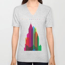 Shapes of Philadelphia accurate to scale Unisex V-Neck