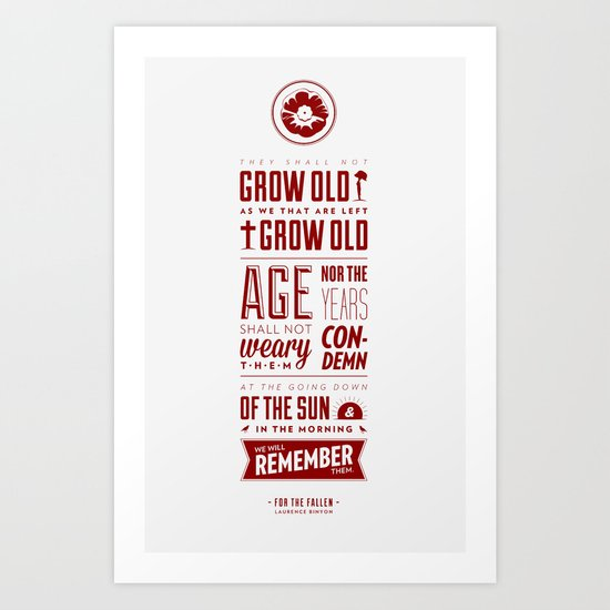 Ode of Remembrance Art Print