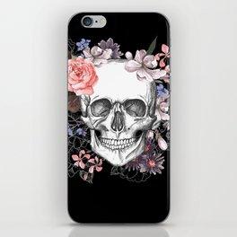 Dia Los Muertos, Floral Skull iPhone Skin