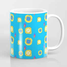 yellow substances in a blue matter Coffee Mug