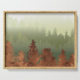 Treescape Green Serving Tray