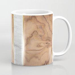 Wood Grain Stripes - White Marble #497 Coffee Mug