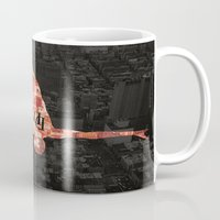 daredevil Mugs featuring Daredevil poster by Slug Draws